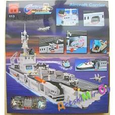 Конструктор (Brick), Авионосец,  Корабль, катер (аналог LEGO)